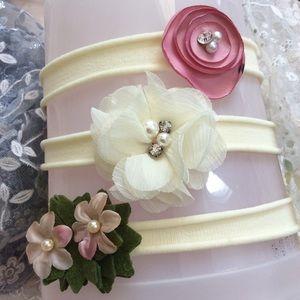 Other - Boutique Baby Girl Floral Embellished Headbands